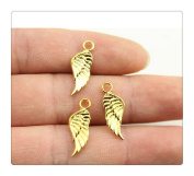 6pcs 21*8mm gold colour wing charms