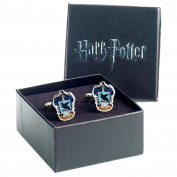 Official Harry Potter Hogwarts Ravenclaw Crest Silver Plated Cufflinks - Boxed