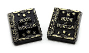 Bluebubble TRICK OR TREAT WITCHES BOOK OF SPELLS STUD EARRINGS WITH GIFT BOX