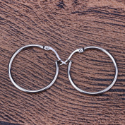 LUXUSTEEL Hot Style Big Round Party Earring Hoop,Round Sleeper Earrings for Women and Girl,Silver and Gold Jewellery Made of Hypoallergenic Stainless Steel