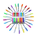 Sunshey Colouring DIY Writing Drawing 12 Colours Glitter Gel Pens and 12 Colours Highlighter Pens