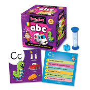 Brainbox ABC Card Game-Includes 52 cards, timer, 8-sided die and rules card! Great fun and learning for home, parties and travel!