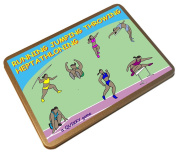 HEPTATHLON - HEPTATHLONING - the QUIKKY Heptathlon athletics game in a portable hinged tin