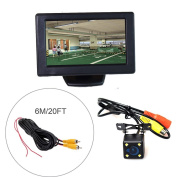 Cocar Car Automobile Parking Kit (11cm LCD Monitor + HD Camera + 6M/20FT Cable) LED Night Vision