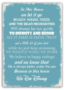 In This House We Do Disney Metal Wall Sign Plaque Wall Art Inspirational