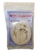 Mermaid & Dolphin - Sea Theme Cake Silicone Icing Mould for Cake and Cupcake Decoration by FPC