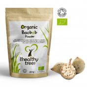ORGANIC Baobab Powder | Premium Quality Pure Baobab Superfruit Powder | High in Fibre and Vitamin C | 250g Pouch | Baobab Powder by TheHealthyTree Company