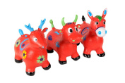 BETSY Happy Hopperz - X-Large DEER ( Red ) Space Hopper Crazy Bouncer W/Pump. UK Seller? Premium Quality?