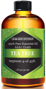 Tea Tree Oil, Highest Quality Triple AAA+ Grade Tea Tree Essential Oil, 45% terpenin-4-ol (Australia) 100% Pure and Authentic, 30ml - Pure Body Naturals