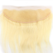 Atina hair 613# blonde Virgin Hair Lace Frontal Closure Russian Straight With Baby Hair and Frontals