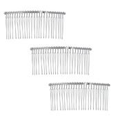 6 Pcs Twist Wire Silver Hair Combs Wedding Bridal Veil Accessory Crafts 10cm