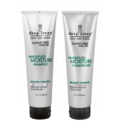 Deep Steep Weightless Moisture Shampoo and Deep Steep Weightless Moisture Conditioner Bundle, Sulphate-Free Haircare For Dramatic Hydration, 10 fl oz (295 ml) each