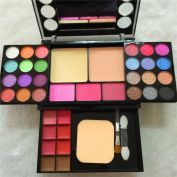Tmalltide Professional colour makeup eyeshadow set 37 colour makeup set 24 colour eye shadow makeup compact disc group box
