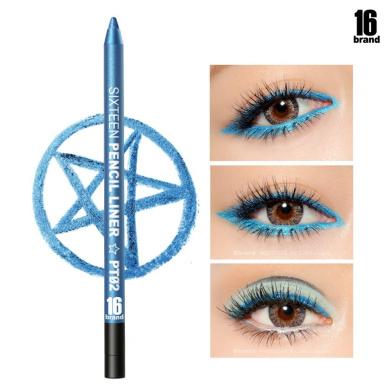 [16BRAND] Sixteen Pencil Liner 0.5g - No Smudging Waterproof Eyeliner (#PT02 Aqua)