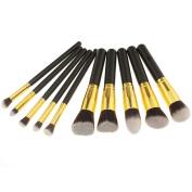 10pcs Makeup Cosmetic Brushes Blush Eyebrow Foundation Powder Kit Set PRO Beauty
