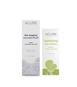 Acure Organics Magical Wonderfluff Overnight Hydrating Booster Mask and Tightening Eye Contour Bundle With Argan, Gardenia Stem Cell, Aloe Vera, Acai, Blackberry and Rosehips, 40ml and 15ml