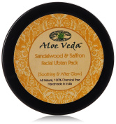 Aloe Veda Sandalwood & Saffron Facial Ubtan Pack (Soothing After Glow), 50 gm