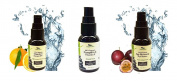 Simply Radiant Beauty Age Reversing, Skin Renewal Trio Set- Vitamin C Serum, Age Reversing Eye Serum, Pumpkin & Vitamin E Serum
