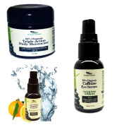 Simply Radiant Beauty Youthful Skin Trio Set- Triple Action Daily Moisturiser, Vitamin C Serum, Caffeine Eye Serum