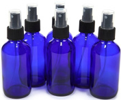 120ml Cobalt Blue Bottle with Black Sprayer - 6 pack