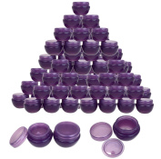 Beauticom® 48 Pieces 10G/10ML High Quality Purple Frosted Container Jars with Inner Liner for Homemade Moisturisers, Lotions, Skin Care Products - BPA Free