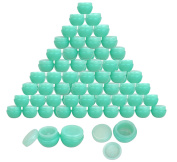 Beauticom® 48 Pieces 10G/10ML High Quality Green Frosted Container Jars with Inner Liner for Homemade Moisturisers, Lotions, Skin Care Products - BPA Free