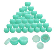 Beauticom® 36 Pieces 10G/10ML High Quality Green Frosted Container Jars with Inner Liner for Makeup, Creams, Cosmetic Beauty Product Samples - BPA Free
