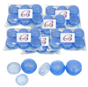 Beauticom® 36 Pieces 10G/10ML High Quality Blue Frosted Container Jars with Inner Liner for Makeup, Creams, Cosmetic Beauty Product Samples - BPA Free