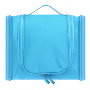 Less Like Hanging Carry Case Travel Tolietry Bag For Men and Women Toiletries Kit Organiser Bathroom Storage Cosmetic Bag For Cosmetic, Makeup, Shaving, Shampoo, Personal Items Sky Blue