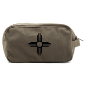 New Mexico Symbo Canvas Shower Kit Travel Toiletry Bag Case