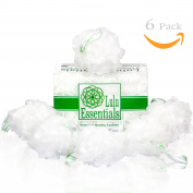 Premium Quality Loofah (6 Pack) Snow White by Lulu Essentials :