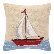 Peking Handicraft Sailboat Hook Pillow, 41cm by 41cm