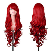 Inviktus Wig 80cm Wig Long Hair Spiral Curly Cosplay Wig Red For Women