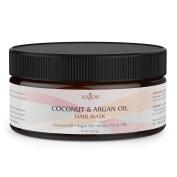 Anjou Argan Oil Hair Mask 240ml, Hair Treatment, Deep Coconut Oil Conditioner for Dry Damaged Hair Colour & Curly Treated Hair and Hair Loss