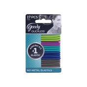 Goody Ouchless No Metal Hair Elastics, Ocean Tides, 4 mm, 17 Count