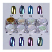 1g/box Shinning Mirror Nail Glitter Powder Gorgeous Nail Art Chrome Pigment Glitters #684