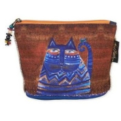 Laurel Burch Feline Minis Cosmetic Bag - Blue Cat