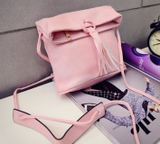 Cutey Small Pink PU Women's Fashion Crossbody bag With Tassel?Lady Handbag Good for Holiday, gift, outdoor (PINK)-. From NY