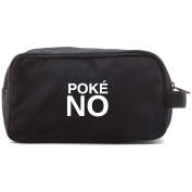 Poke No Text Canvas Shower Kit Travel Toiletry Bag Case