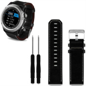 Voberry® Luxury Leather Strap Replacement Watch Band With Tools For Garmin Fenix 3