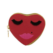 Lovely Lashes Heart Makeup Bag Purse, Red by Emma Lomax London