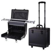 AMPERSAND SHOPS Rolling Pro Hair Stylist Travel Case with Hair Tools Holder