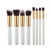 Tenworld 8 Pcs Kabuki Flat Foundation Brushes Pro Cosmetic Makeup Brush Set