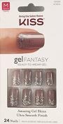 "Kiss Nails GEL FANTASY ""KGN04"" (CHARMED LIFE) Medium Design Nails w/Adhesive Tabs & Glue"