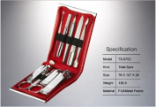 World No. 1, Three Seven 777 Travel Manicure Pedicure Grooming Kit Set - Nail Clipper (Total 9 Pcs, Model