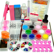 Coscelia 12pc Colores UV Gels Nail Art Tips For Beauty Manicure Tools Sets