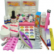 Coscelia UV Nail Art Gels Tips Glitters Decorations For Beauty Manicure Tools Sets