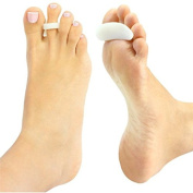 LOTGO Hammer Toe Pads By Envelop - Silicone Gel Toe Crest Helps Cushion and Support Hammer, Claw and Mallet Toes - Toe Pads Rest Comfortably Under Toes to Eliminate Pressure and Ease Pain