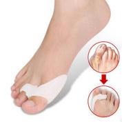 WONFAST® 2pcs/Pack Silicone Alignment Foot Pain Relief Hallux Valgus Splint Big Gel Toe Spacer Separators Pads Bunion Straightener Orthosis Foot Care