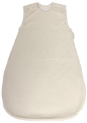 100% Organic Cotton, Summer Model, 1 Tog, Double Layered Baby Sleeping Bag in Cream Colour (Small